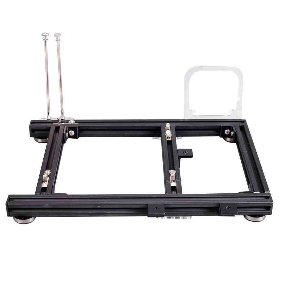 Open Frame Heat Dissipation Aluminum Alloy Computer Pc Case Chassis For Itx Atx M-atx With Auxiliary Tool And Screw