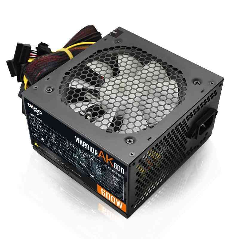 Ak600 Max 600w Power Supply Psu, Pfc Silent Fan 12v For Computer