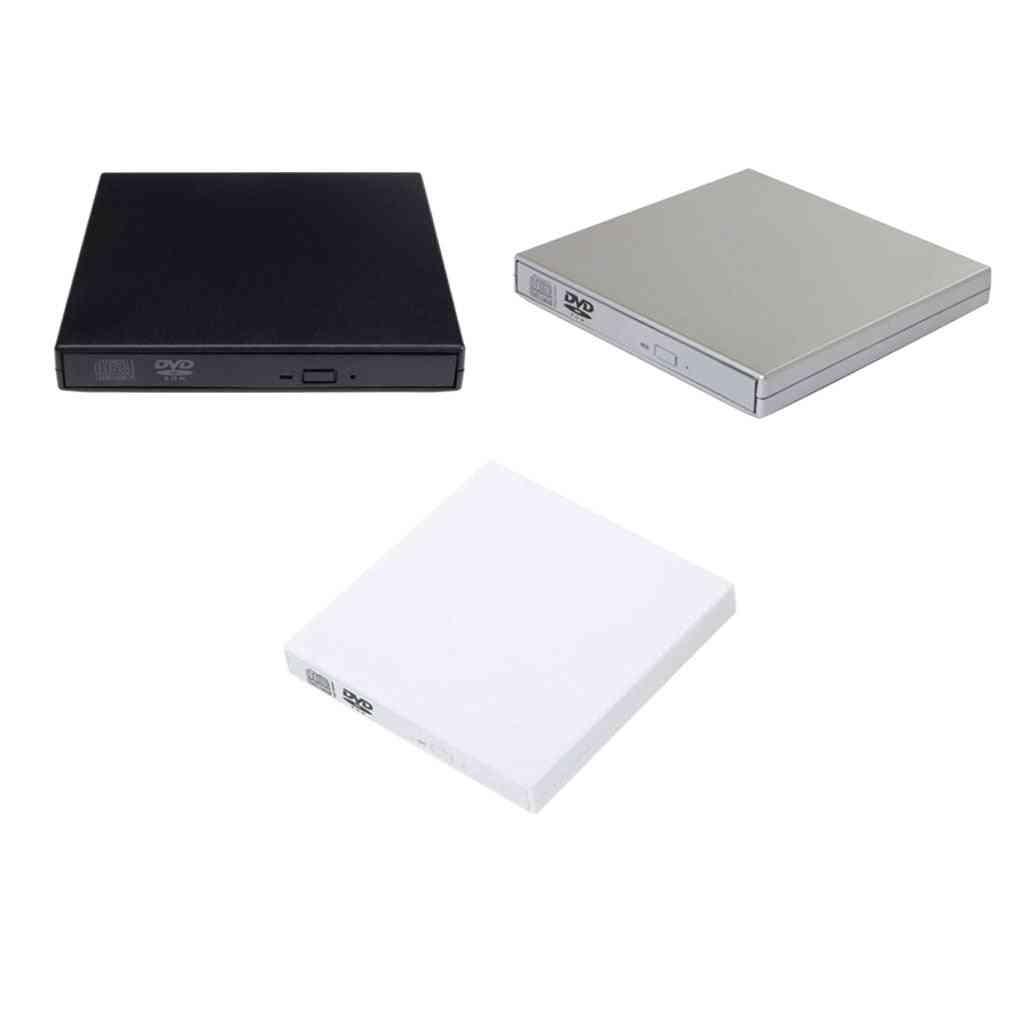 Usb 2.0 External Cd/dvd Rom Player Optical Drive Dvd Rw Burner Reader