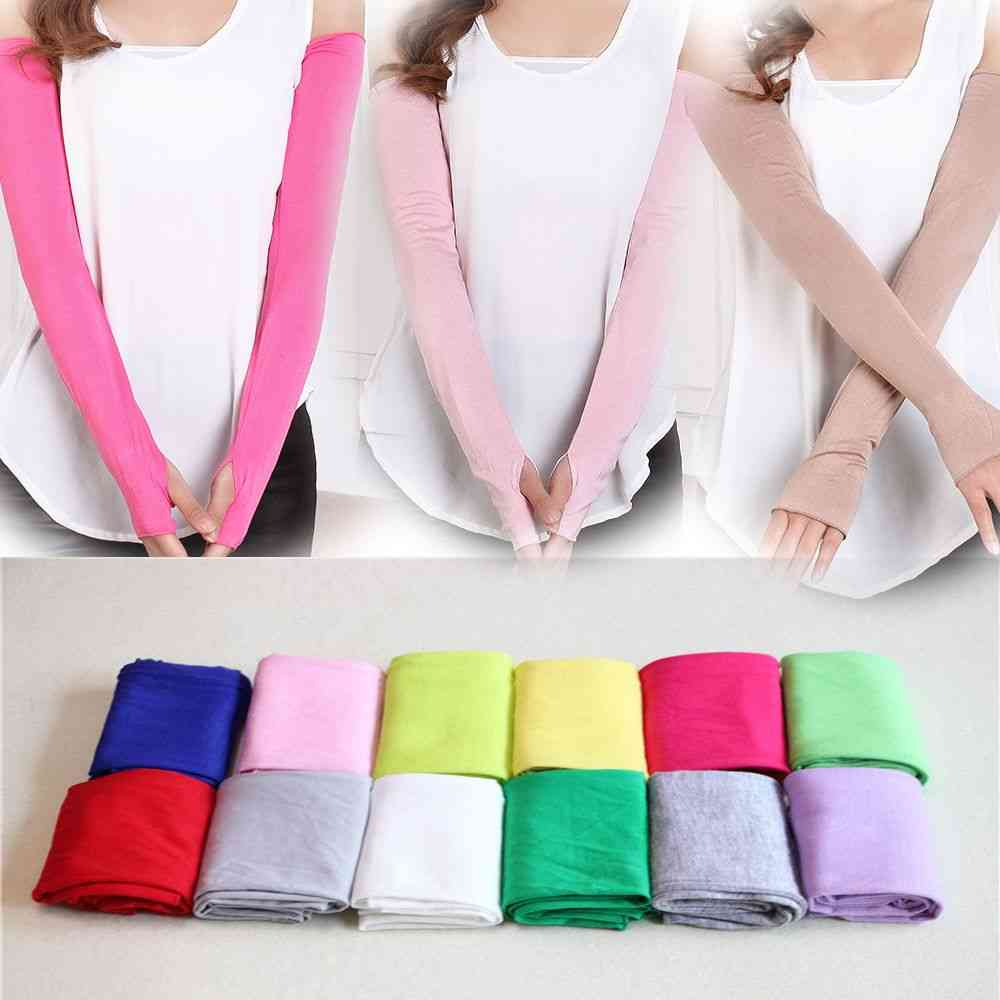 Multifunctional Sunscreen Arm Warmer Half Finger Cotton Gloves Cuff Hand Protection