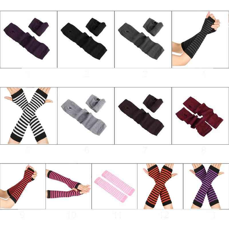 Autumn Warmers, Wrist Arm, Fingerless, Long Sleeve Gloves