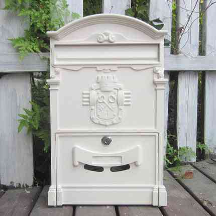Mailbox Retro Newspaper, Pastoral Mail Postcard, Paper Large Box, Outdoor Wall Vintage Decoration With Lock