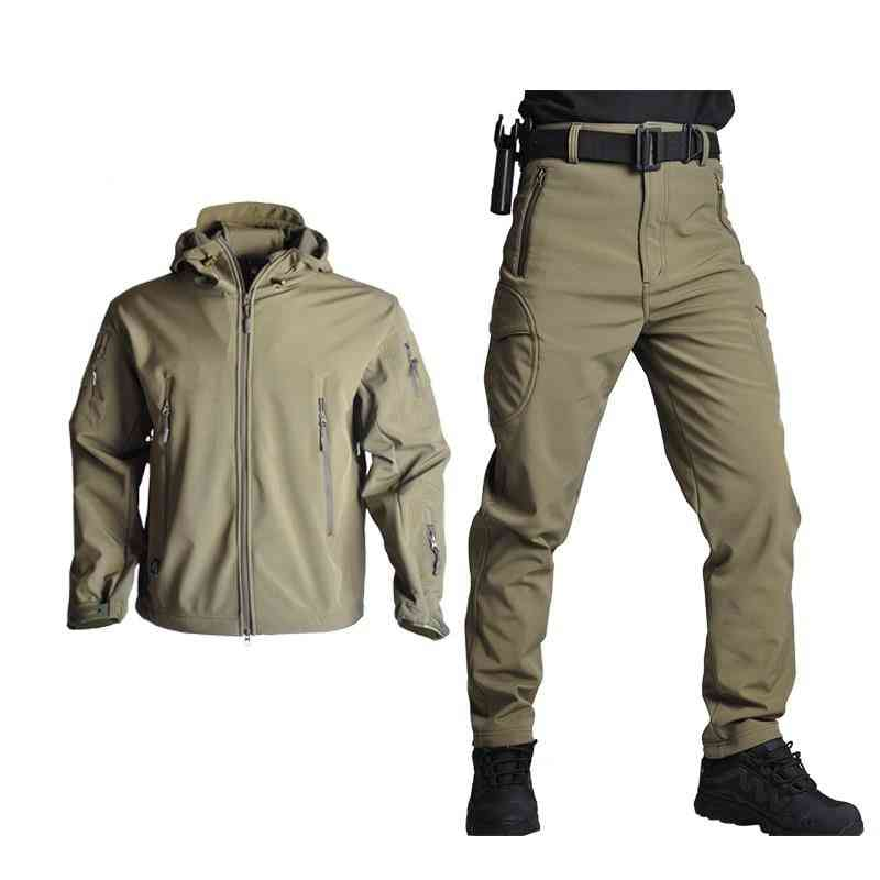 Unisex Army Waterproof Camo Hunting Clothes Jacket + Pants