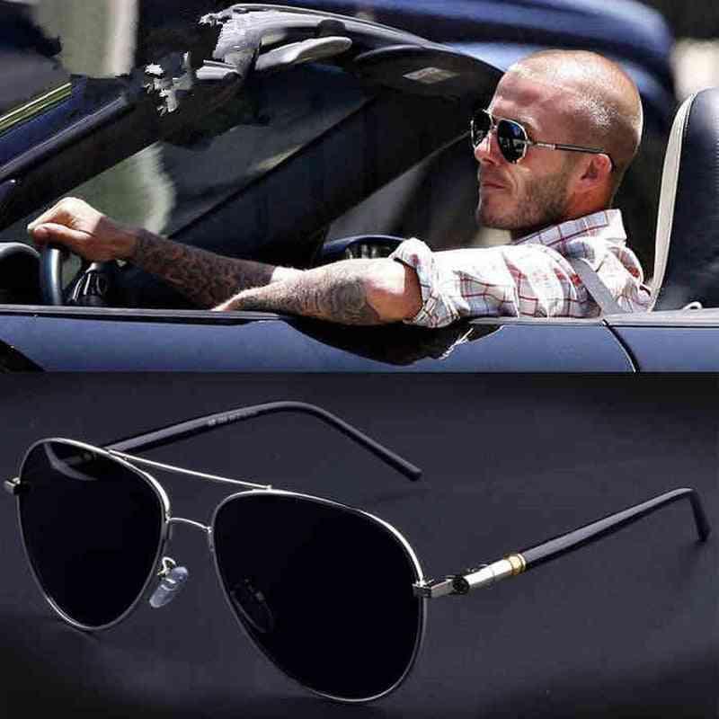 Aviation Metal Frame Quality Oversized Spring Leg Alloy Men Sunglasses Polarized Brand Design