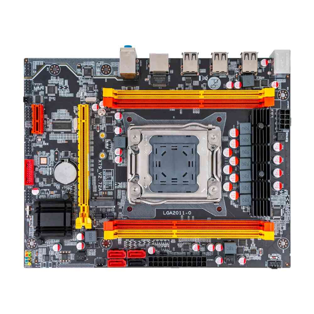 X79m-ce3 Motherboard Intel X79 Lga 2011 Xeon E5 Support Ecc Reg Ddr3 128gb M.2 Nvme Ngff Sata3.0 Usb2.0 Server Mainboard