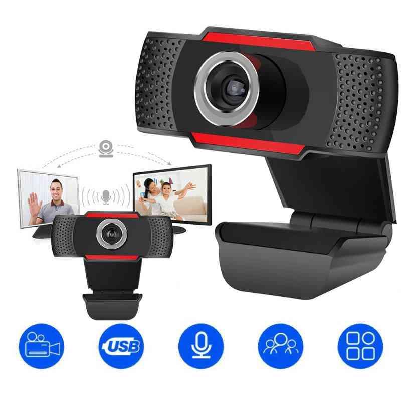 Usb Computer Full Hd 720/1080p Digital Webcam Camera  With Micphone For Laptop Desktop Pc Tablet