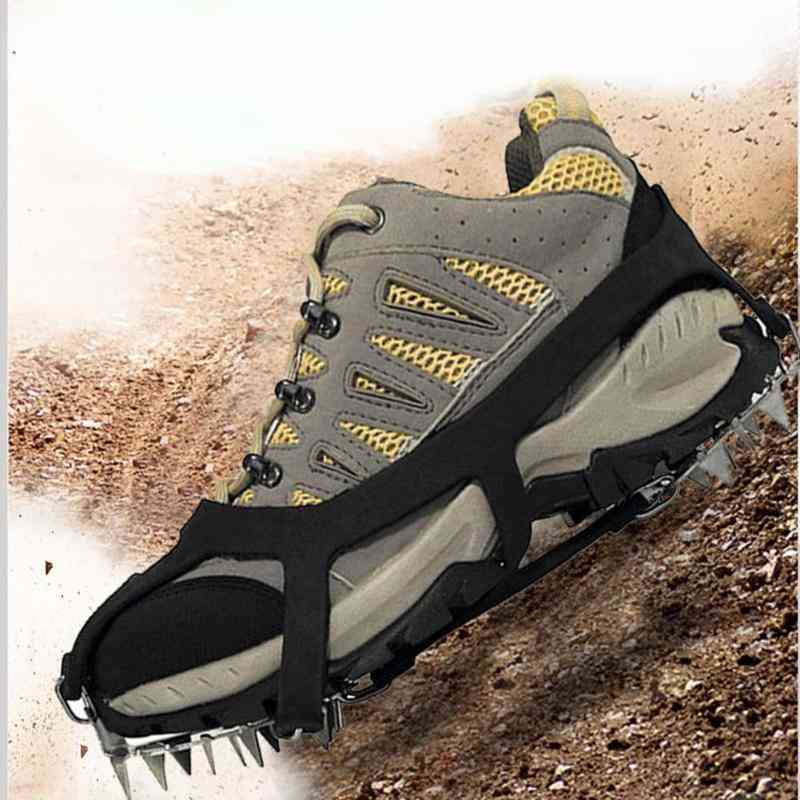 18 Teeth Fishing Ice Snow Shoe Spikes Grips Climbing Camping Anti Slip Shoes Cover