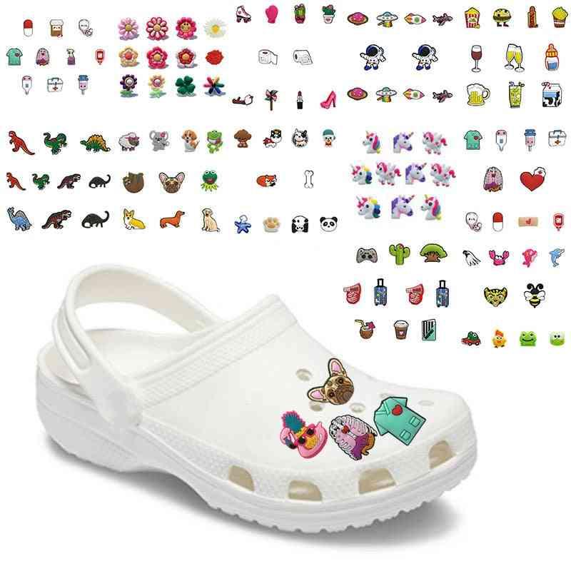 10pcs/lot Cute Medical Pvc Croc Shoe Charms Decorations Accessories