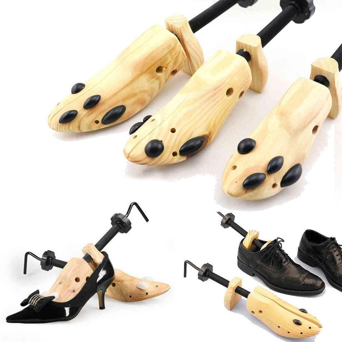 Wooden Shoe Tree Shaper Rack, Adjustable Home Expander