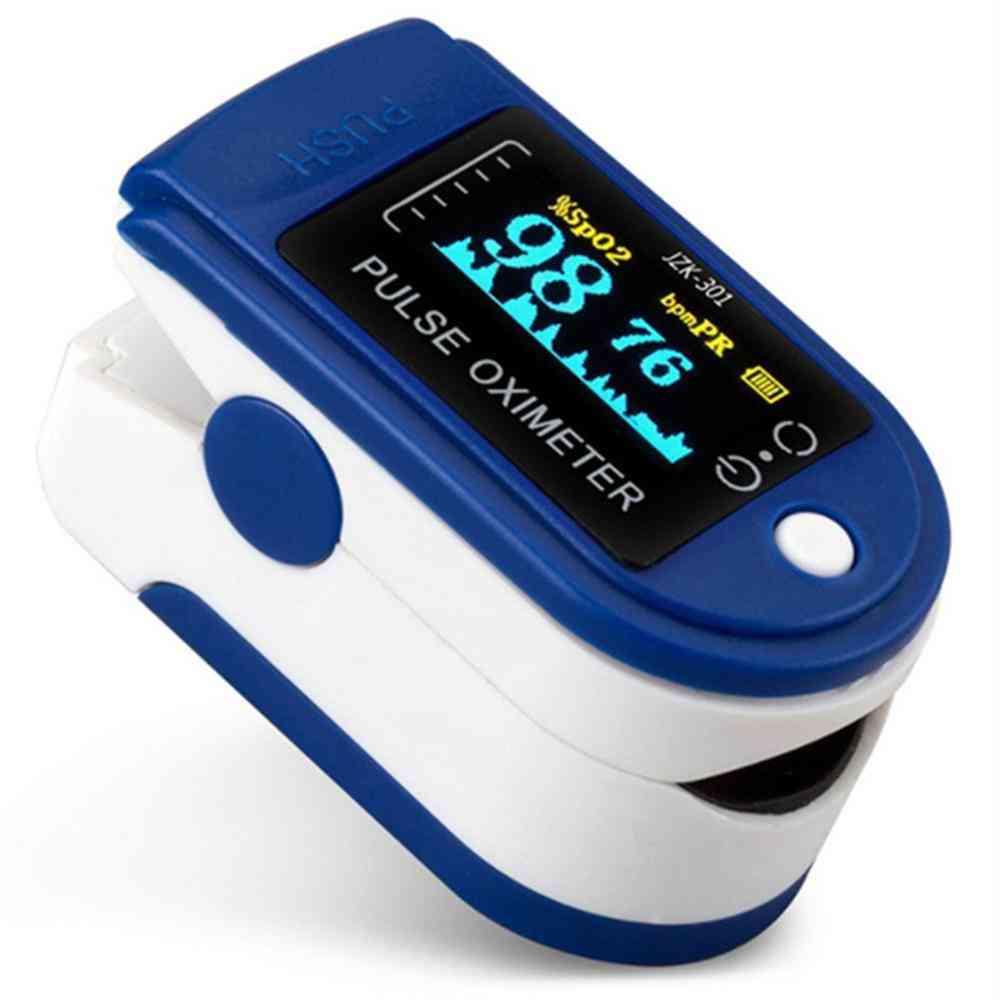 Portable Professional Finger Oximeter, Digital Pulse, Oled Blood Oxygen Heart Rate, Health Diagnostic Monitor Tool