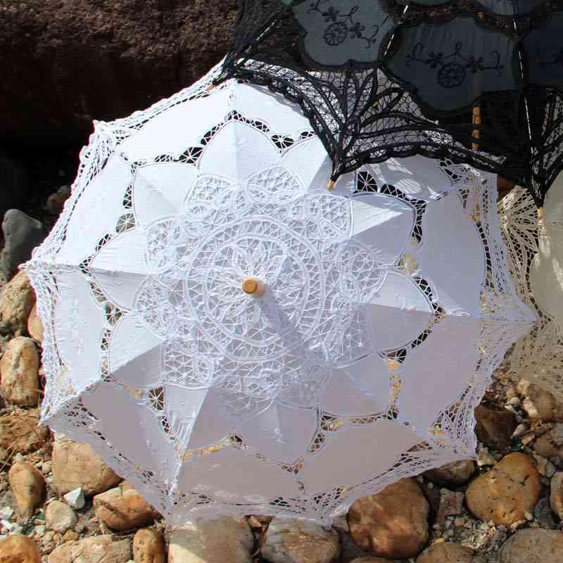 Anniversary Celebration Party Decoration Lace Umbrella