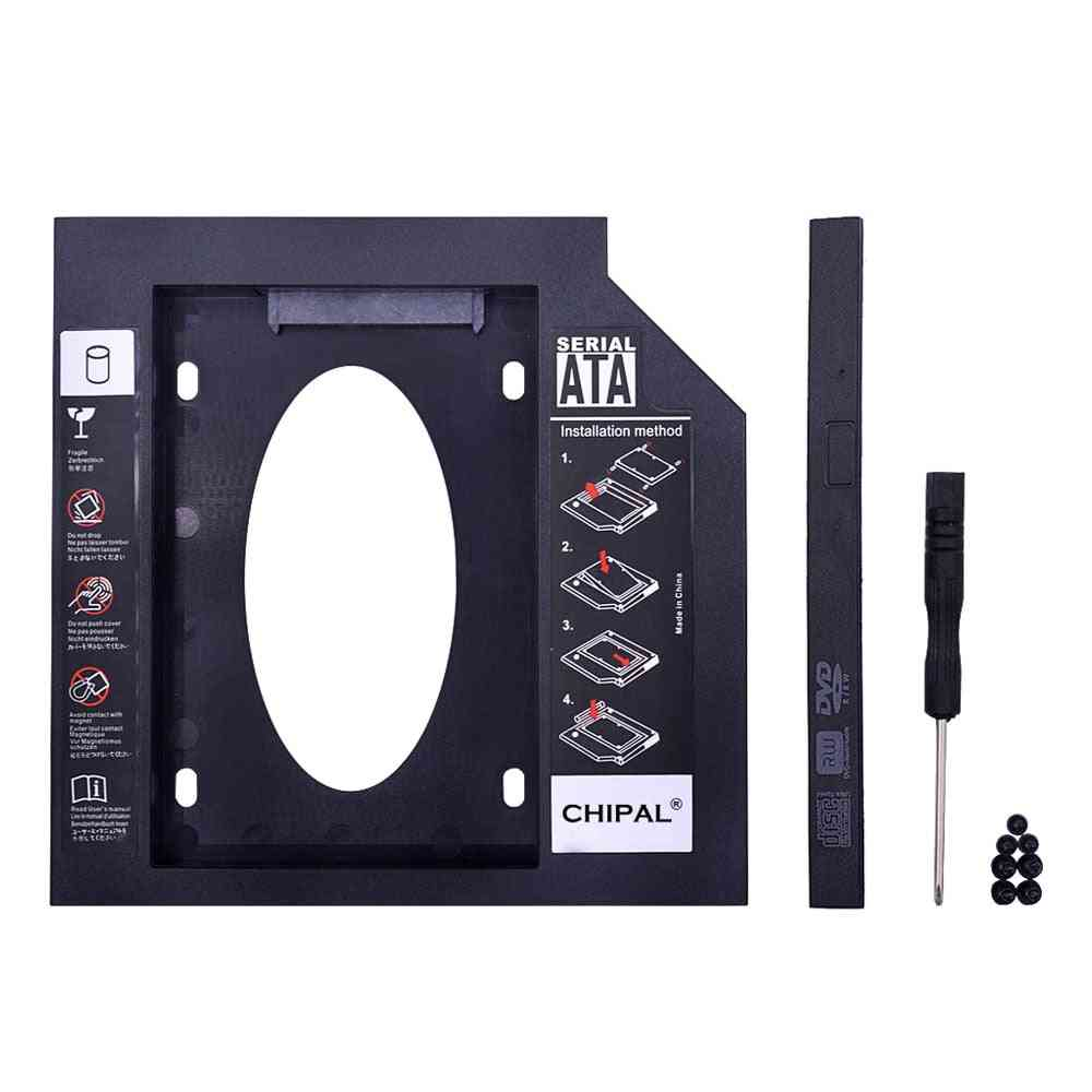2nd Hdd Caddy 9mm 9.5mm 12.7mm Sata 3.0 For 2.5'' Ssd Case Hard Disk Drive Adapter