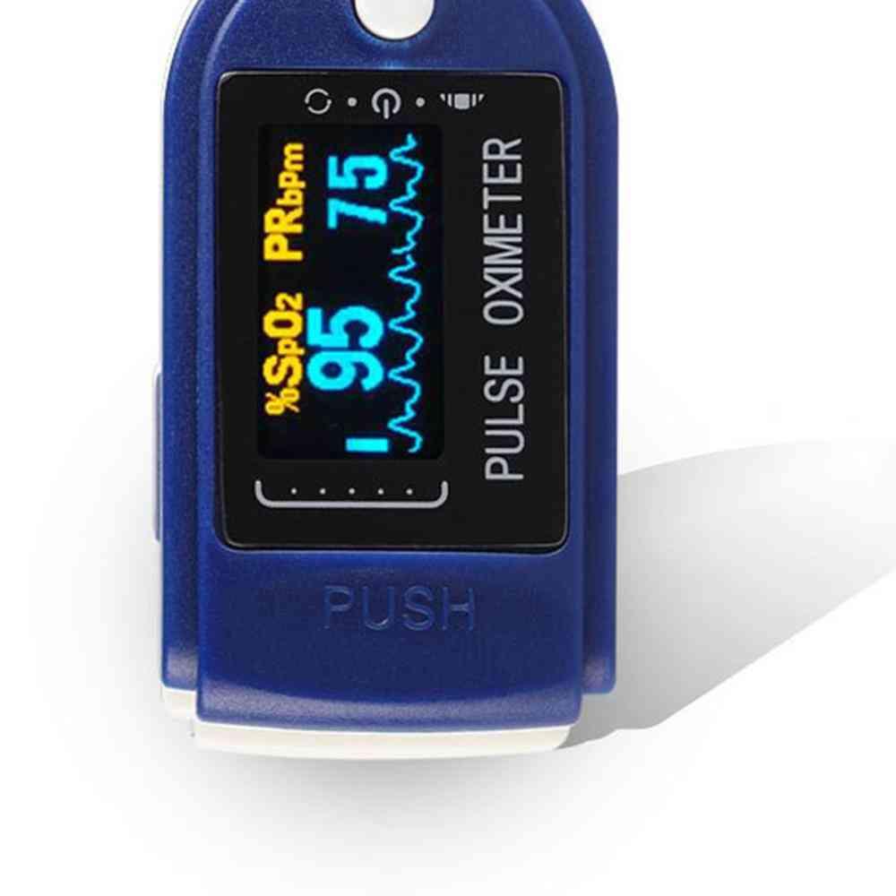 Portable Multiplication Digital Finger Blood Oxygen, Heart Rate Fingertip Pulse Oximeter (blue)