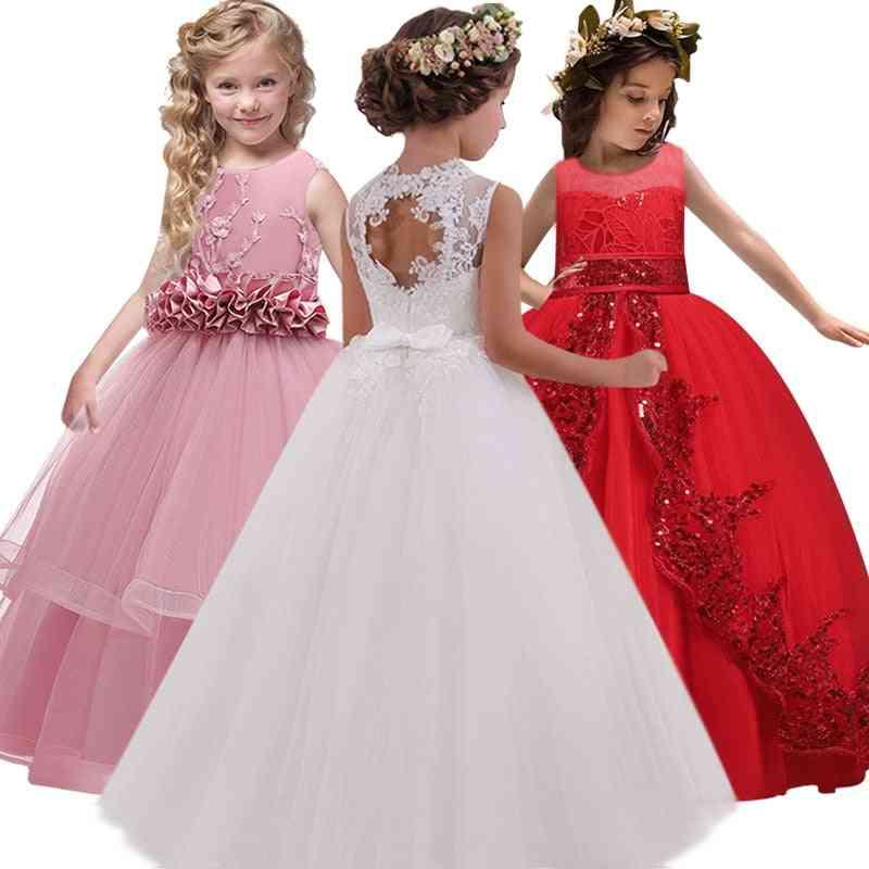 Back Hollow, Flower-lace, High-end Elegant, Banquet Dress For