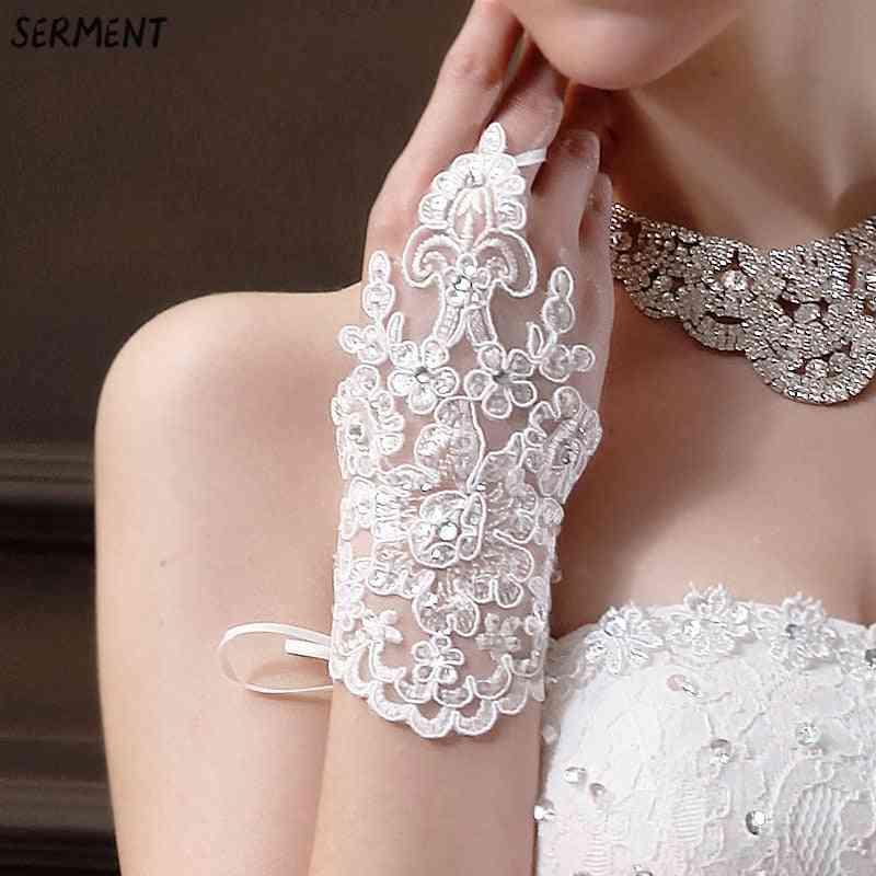Short Wedding Gloves Fingerless