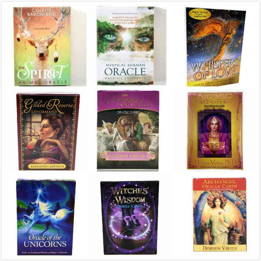 Romance Angels Oracle Tarot Cards, English Read Fate Board Game Oracle Deck Games