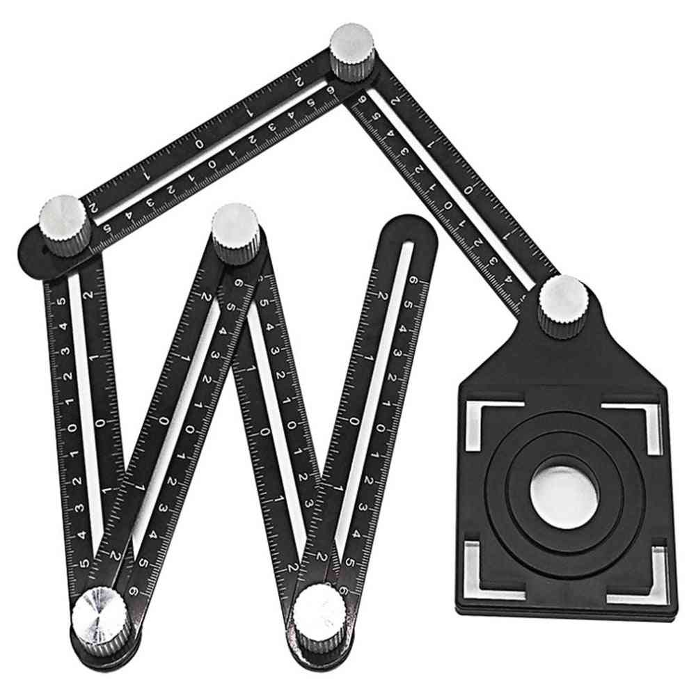 Multi Angle Measuring Ruler, Aluminum Folding, Wood, Tile, Flooring Tool