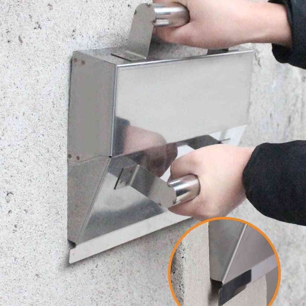Stainless Steel, Plaster Scraper With Handle Mortar, Hand Tools, Anti-slip Cement, Wall Decor