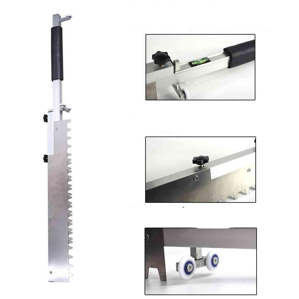 Tiling Floor, Paving Tile Builder Tool - Mortar Trowel, High Precision, Flat Sand Leveling System