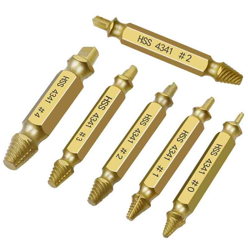 Screw Extractor, Drill Bit Set- Broken, Bolt Remover, Stripped Demolition Tools
