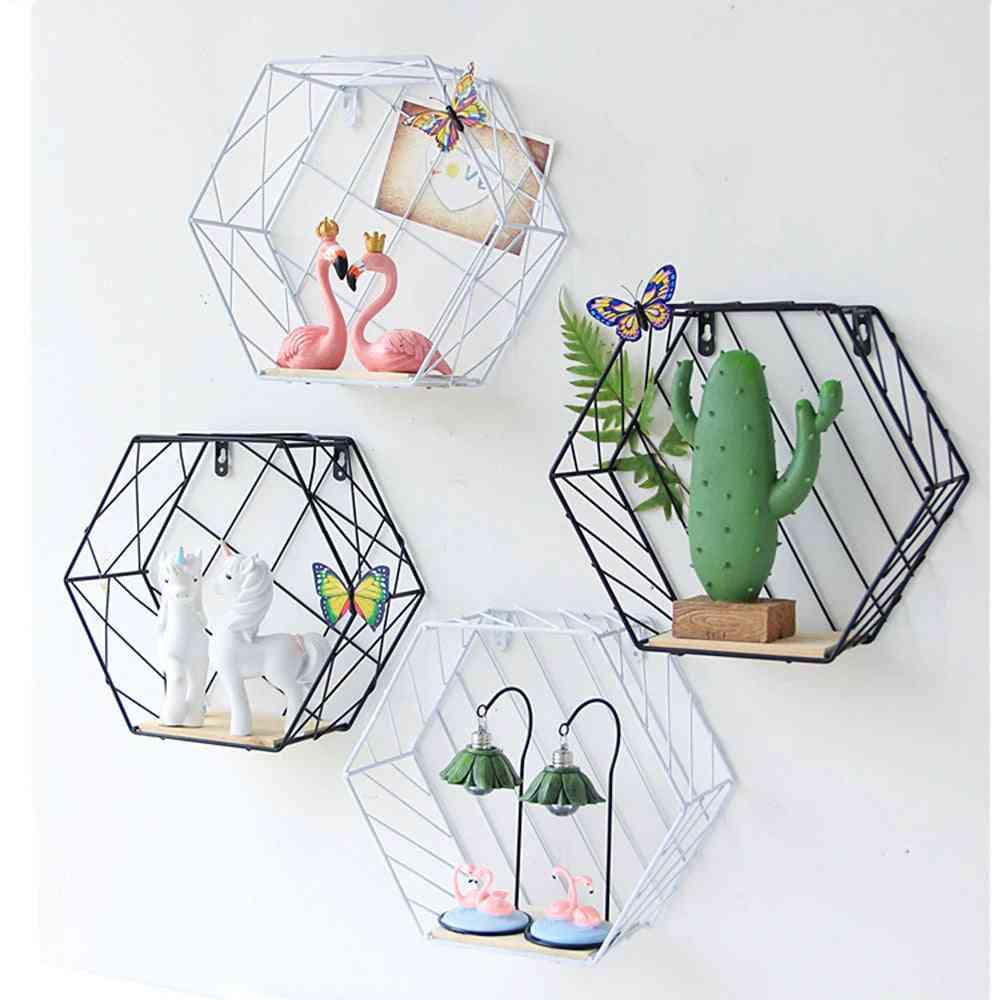 Table, Wall Mount Storage Basket- Home Decor
