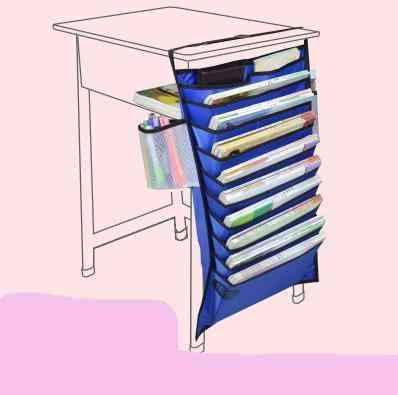 Hanging Book Bag Desk & Magazine Holder, Cloth Paper Storage
