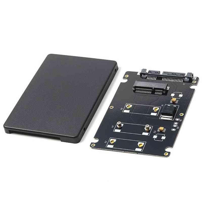 Mini Msata, Ssd To 2.5 Inch Sata3 Adapter Card With Case