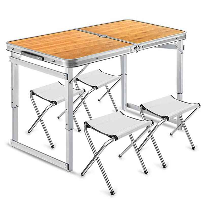 Folding Table Stall Portable Outdoor Simple Dining Chair