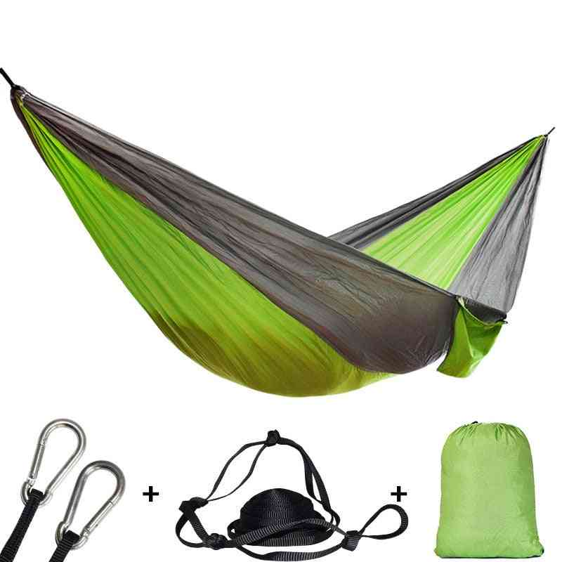 Hiking Camping Hammock, Portable Nylon Safety Parachute Swing Chair - Double Person Leisures