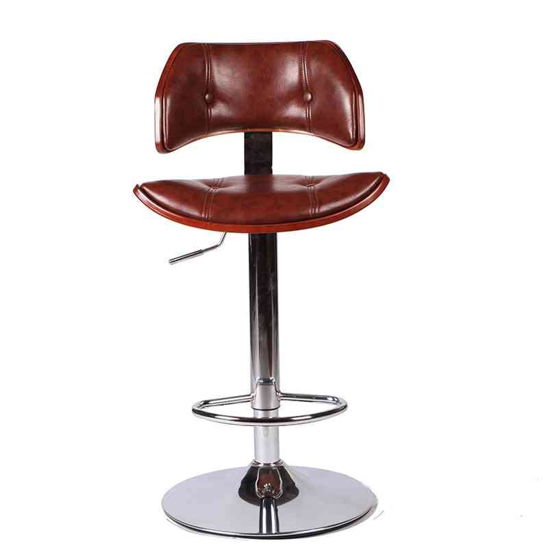 In Faux Leather Chrome Finish Adjustable Height Hydraulic Swivel Stool Chair