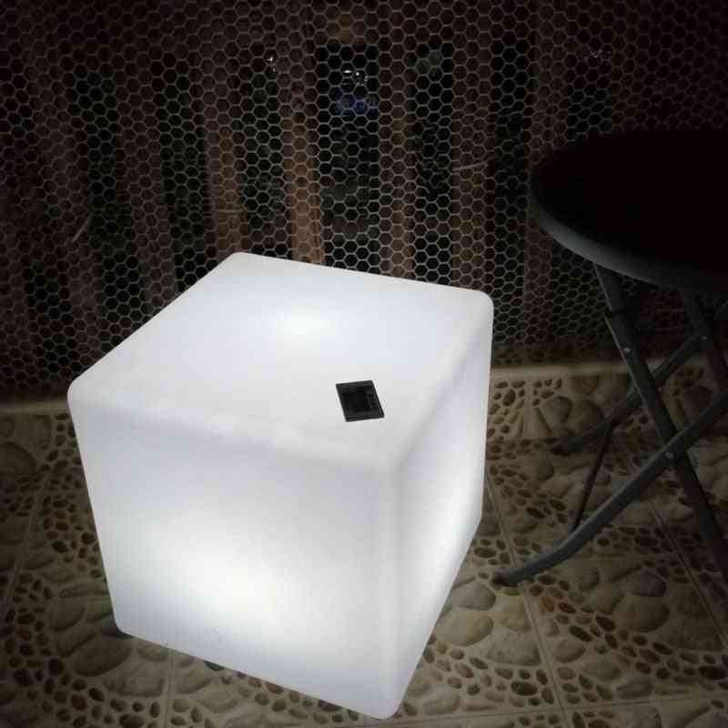 Led Cube Stool Seat Glowing Chair Patio Decorative Lighting Furniture With Changing Remote Control