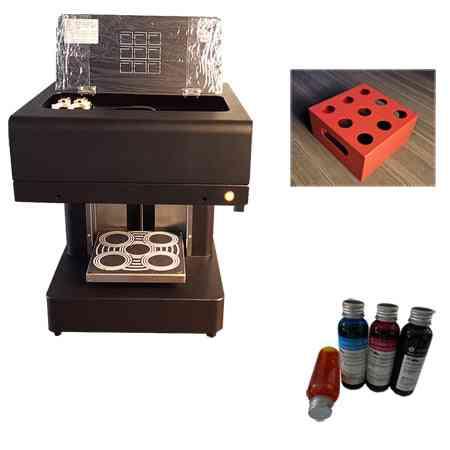 20*20cm Tray  Digital Automatic  Coffee Printer, Cake/macaroo/ Food Printer 4*100ml Ink And Macaroon Holder Included