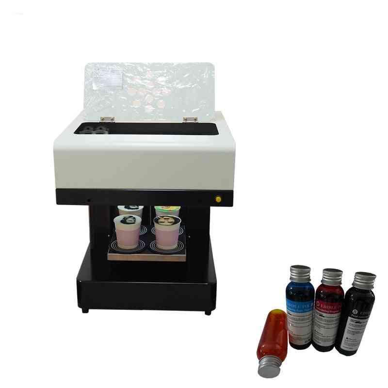 4 Cups Selfies Let's Coffee  And Food Printer Include Edible Ink