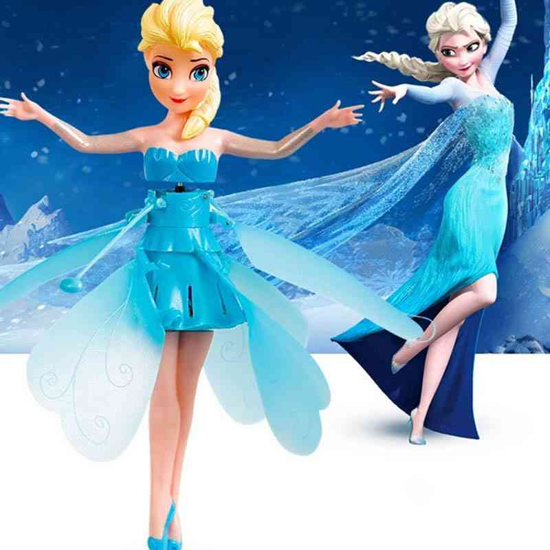 Princess Elsa Fairy Suspended Aircraft Control Flying Dolls