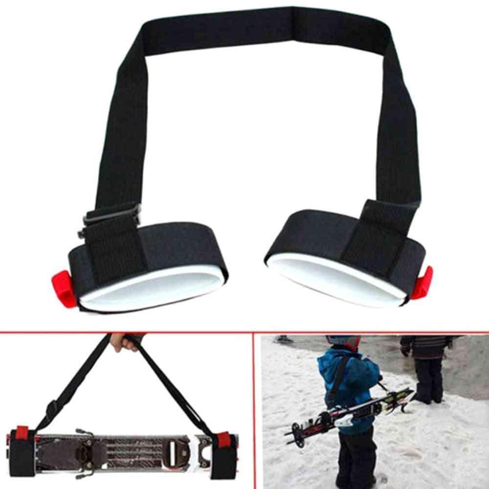 Adjustable Skiing Shoulder Hand Carrier Lash Handle Straps