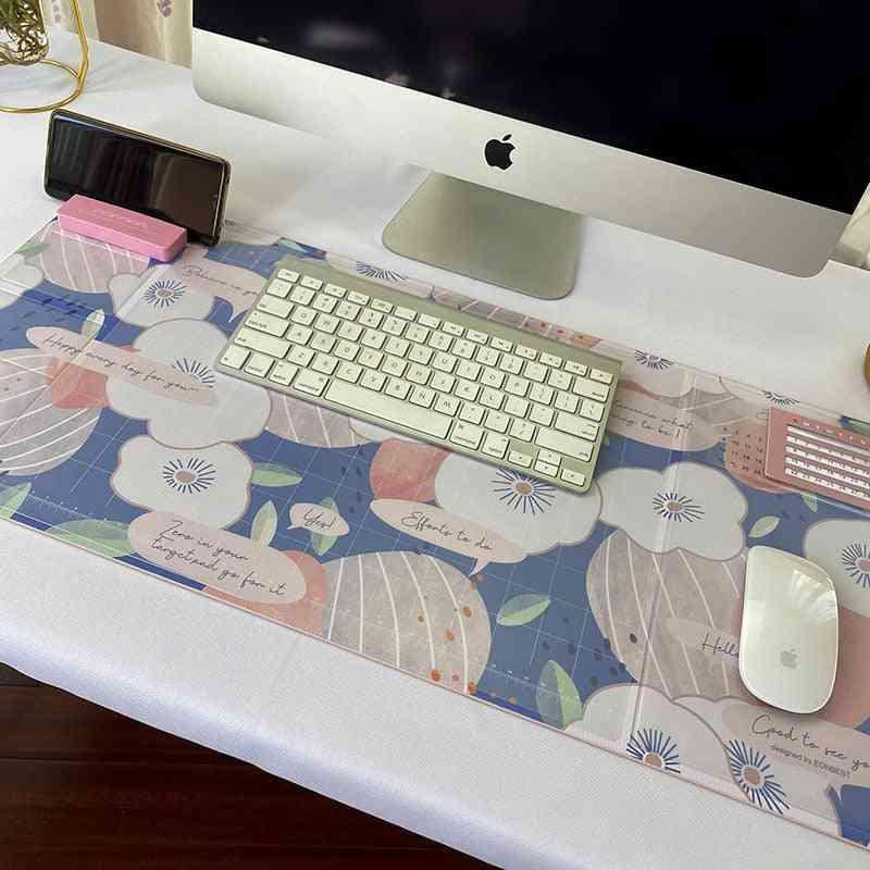 Oversized Waterproof Pu Mouse Pad, Student Writing Office Computer Desk Mat