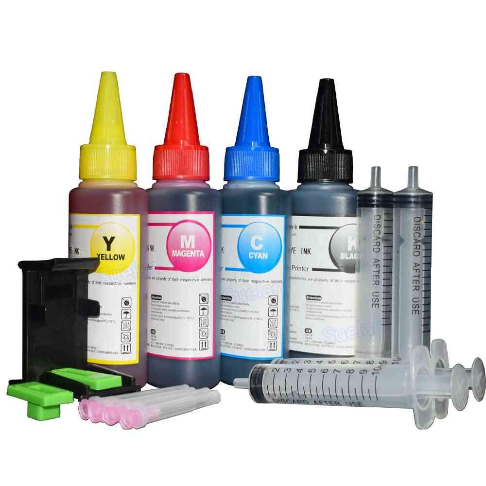 Ink Refill Kit For Hp301 Xl Cartridge Hp140 Hp141 Hp300 Hp 302 Xl Hp121 Hp122 Hp650 Hp652 Hp651 Xl Printer Ink Hp 304 Xl 4x100ml