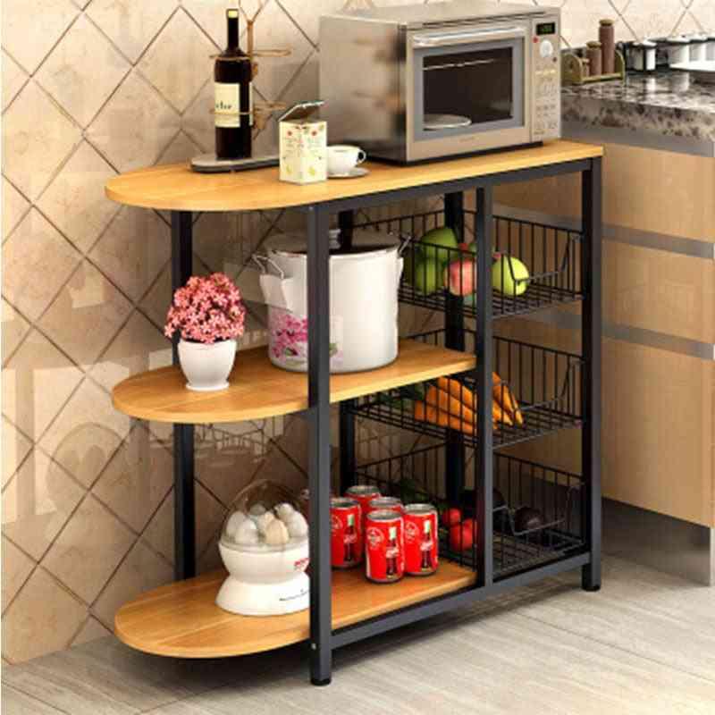 Dining Table Kitchen Storage Shelf Storage Shelf Microwave Stand Multi-layer Multifunctional