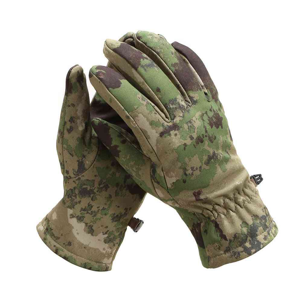 Skin Soft Shell Camouflage Fleece Gloves, The Eagle Shark Cycling Tactical Glove