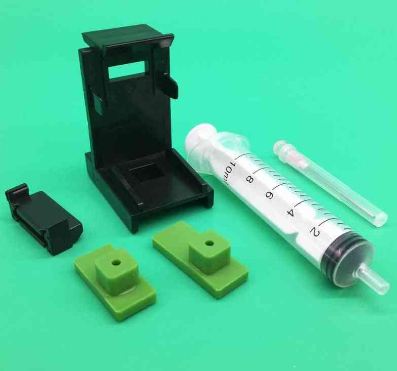 Ink Refill Tool With 10ml Syringe Needles Kits For Epson Canon Hp