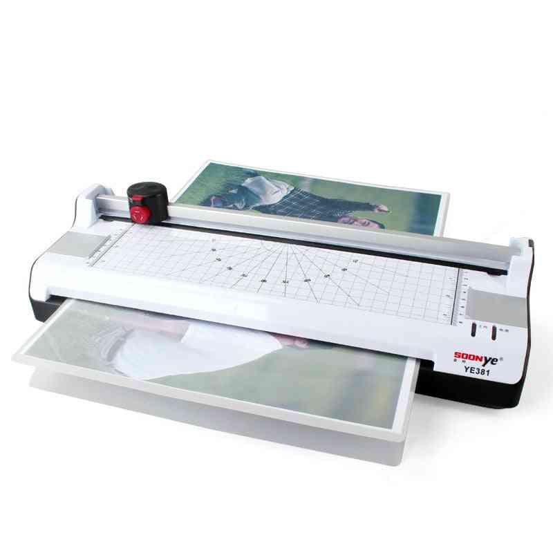 A3 Photo Paper Hot & Cold Thermal Laminator Machine Quick Warm-up Fast Laminating Speed