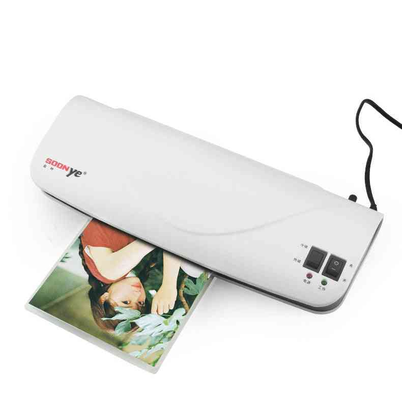 Thermal Office Hot & Cold Laminator Machine For A4 Document Photo Blister Packaging Plastic Film Roll Laminator