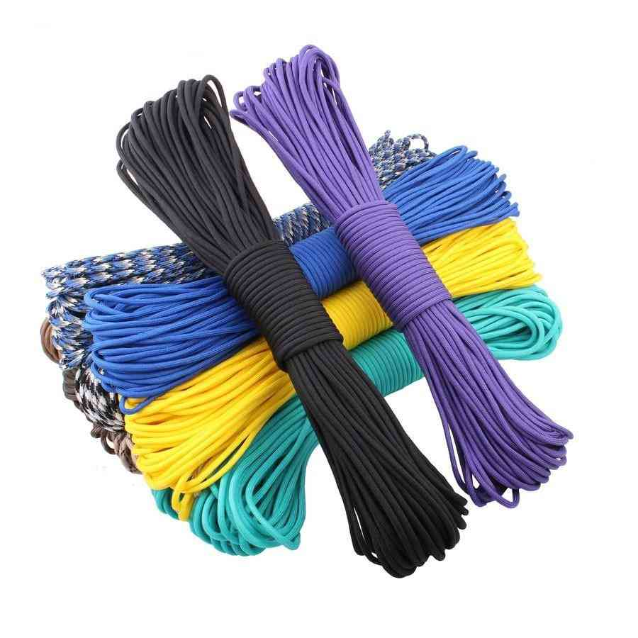Parachute Cord Lanyard, Tent Rope Mil Spec Type Iii 7 Strand 100ft Paracord For Hiking Camping