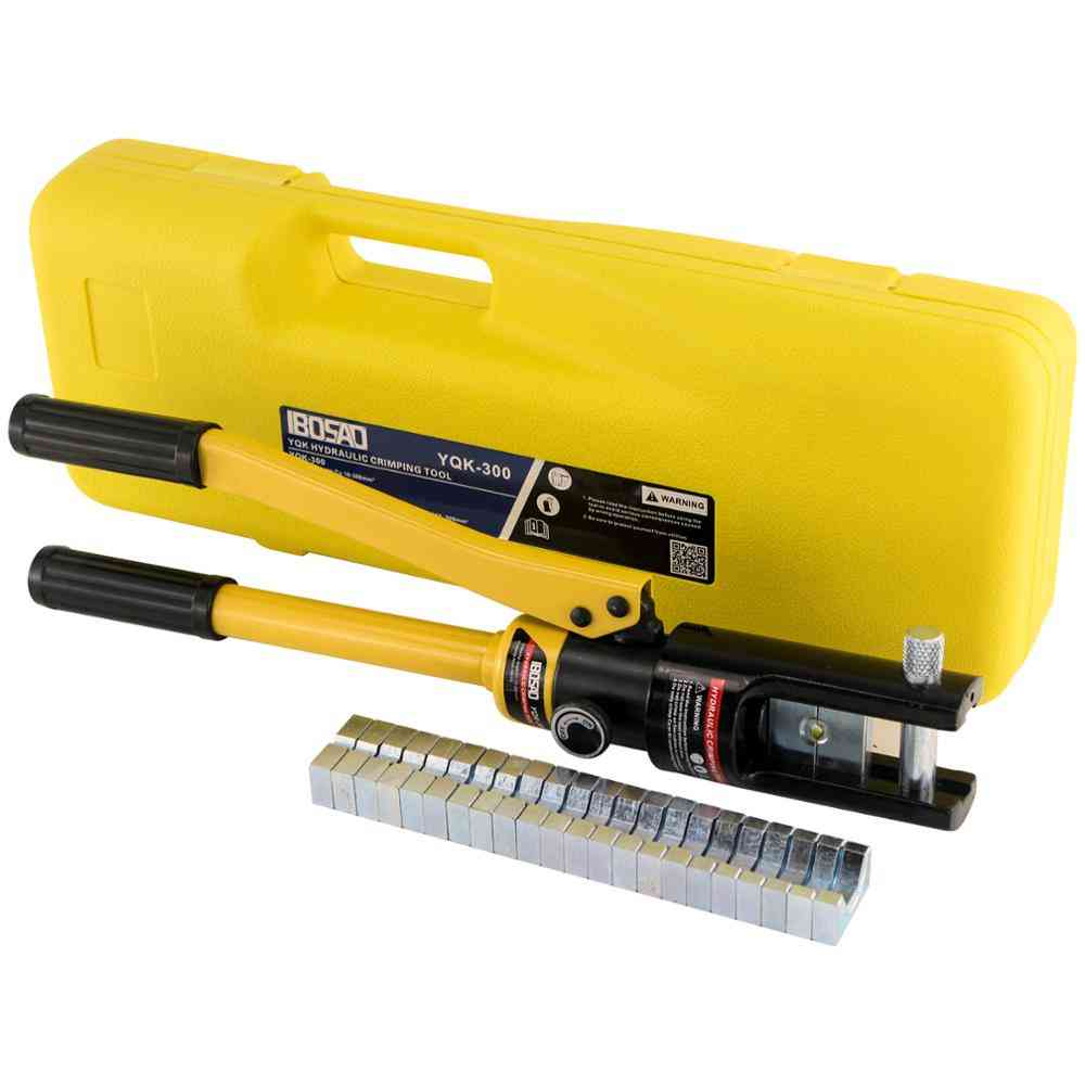 Hydraulic Cable Lug Crimper Tool, Electrical Battery Terminal Wire Kit