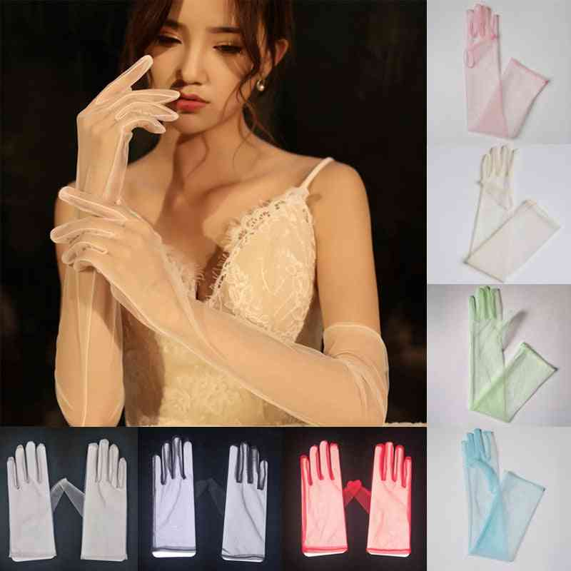 Sexy Sheer Tulle Gloves