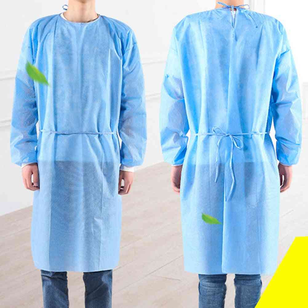 Disposable Protective Isolation Clothing Anti-spitting Waterproof Stain Gown Suit With Masks Gloves