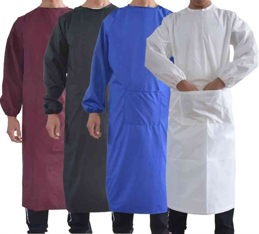 Waterproof Oil-resistant Full Cover Apron Suit Butcher Fisher Unisex Work Safety Reusable Coverall