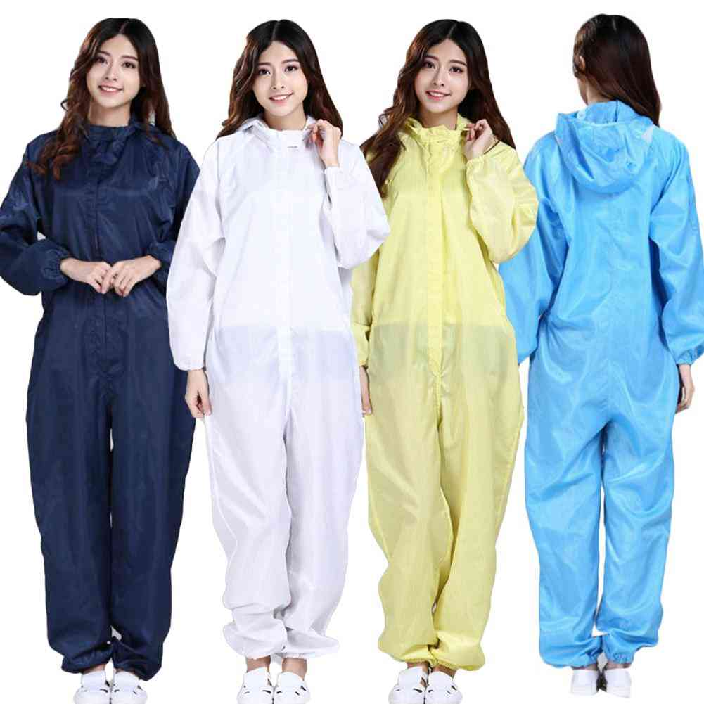 Waterproof Oil-resistant Full Cover Apron Suits Butcher Fisher Unisex Work Safety Reusable Coverall