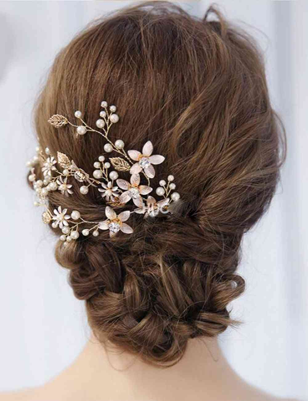 Floral Bridal Headband (gold)