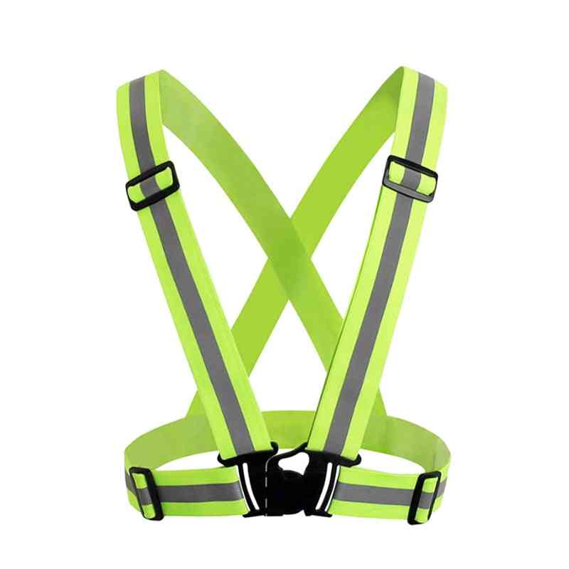 High Visibility Unisex Outdoor Reflective Elasticity Safety Vest Fit For Running Cycling Sport Clothes